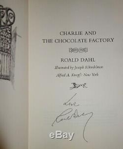 Hand Signed Charlie Et La Chocolaterie (1964) Dahl 1er Édition + Plus Nr