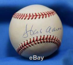 Hank Aaron Jsa Coa Autographié Ligue Nationale Onl Signée À La Main Baseball