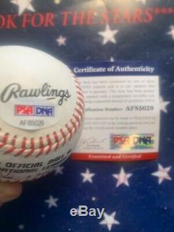 Hank Aaron Psa Dna Coa Autograph Ligue Nationale De Baseball Onl Signée À La Main
