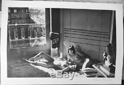 Helmut Newton Mannequins II D'orsay 1977 Signée A La Main Lithographie Autographiée