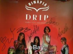 Hinapia Showcase Drip Promo Digital Single Album Affiche Dédicacée Signée À La Main