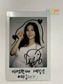 Hyojung (oh My Girl) Isac Événement Autographié Main (signé) Polaroid
