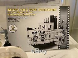 Idées Lego Disney Steamboat Willie Boite Signée Autograpée