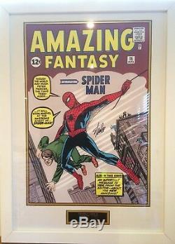 Incroyable Spider-man Stan Lee Autograph Signé Présentation Encadrée À La Main # 2