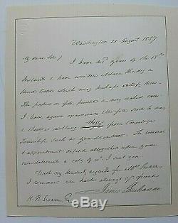 James Buchanan Lettre Authentique Dans Sa Main Signée En Tant Que Président 1857 Jsa Coa