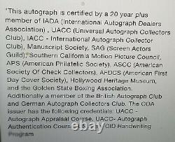 James Dean Signé À La Main Page Authentifiée Autographiée