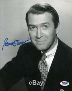 James Jimmy Stewart Signée À La Main Psa Dna Cert 8x10 Photo Dédicacée Authentique
