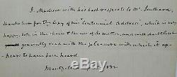 James Madison Lettre Authentique Tout Dans Sa Main Signé J. Madison Daté W Jsa Coa