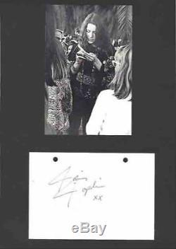 Janis Joplin Main Autographe Signé Signature Coa Woodstock Hippie 1969