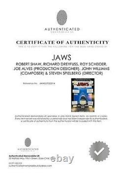 Jaws, Robert Shaw, Steven Spielberg, Joe Alves Cadre Signé À La Main
