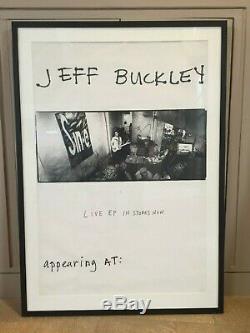 Jeff Buckley Originale Signée À La Main Affiche Encadrée 36 X 24 Affiche Withcoa