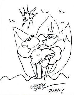 Jeff Koons Dessiné Au Crayon Sur Papier, Dessiné À La Main, Autographié, Coa VD