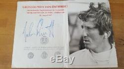 Jochen Rindt 1967 Original Signé Autograph Autogramm Lotus Zeltweg Signée