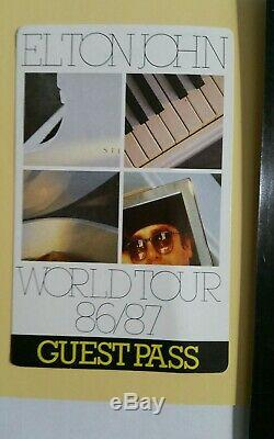 John Elton Hand Signed A Dédicacé Framed 4x6 Photo + Vip Pass Coa