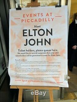 John Elton Me Dédicacé Main Signée Livre À Couverture Rigide 1ère Édition 2019 Londres