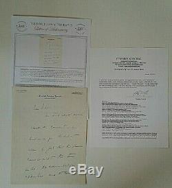 John F Kennedy Lettre Manuscrite De 2 Pages Signée Best Jack Avec 2 Sénateurs De Coa