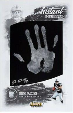 Josh Jacobs Rc 2019 Instantanée Impressions Autograph Main Imprimer 5/5 1/1 = 11x17