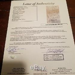 Jsa Loa James Une Lettre Et Une Enveloppe Signées À La Main Par Garfield, 1877, Président Als