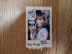 Jyp Twice Event Prize Réel Momo Signé Polaroid Autographié À La Main