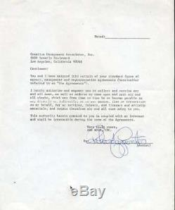 Karen Et Richard Carpenter Psa Dna Coa Signée À La Main 2 Contrats Autograph