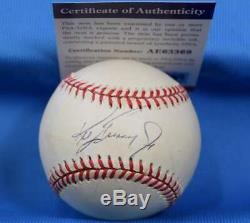 Ken Griffey Jr Psa Adn Coa Autograph Ligue Américaine De Baseball Signée À La Main