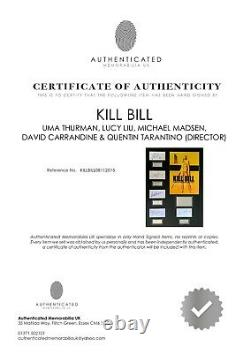 Kill Bill Quentin Tarantino Film Cadre Monté À La Main Signé