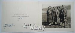 King George VI & Queen Elisabeth II Mère Signée À La Main Autograph Carte De Noël