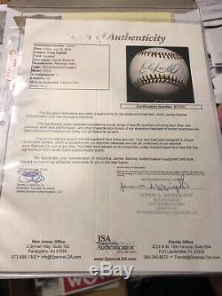 Kirby Puckett Jsa Cert Autograph Ligue Américaine Oal Signé À La Base De Baseball