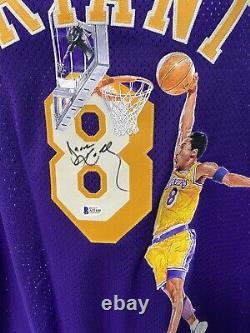 Kobe Bryant Authentic Jersey Équipe Numéro Laqueurs Signé Main Autographié Peint