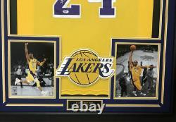 Kobe Bryant Autographed Hand Signed Custom Framed #24 La Lakers Jersey Psa Coa