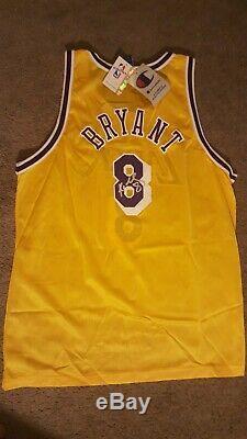 Kobe Bryant Autographié Signée À La Main D'argent Rare Sharpie Lakers Or Jersey # 8