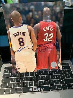 Kobe Bryant Et Shaquille O'neal Main Originale Signée Photo Autographiée Lakers Nba