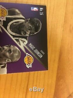 Kobe Bryant Prestige Kobe Bryant Main / Magic Johnson A Signé Carte Autographe Withcoa