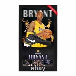 Kobe Bryant Signé À La Main Chaussures Encadrées La Los Angeles Lakers Lebron Jordan Shaq