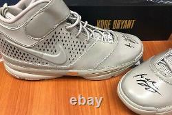 Kobe Bryant Signé À La Main Nike 24 Chaussures Panini Certificat La Lakers Lebron Jordan