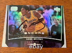 Kobe Bryant Signée À La Main Autographié Los Angeles Lakers Card Basketball Coa