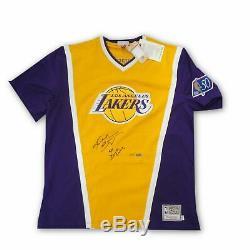 Kobe Bryant Signée À La Main Autographié Tir Shirt 97 Champ Lakers Panini Dunk