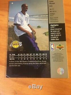 Kobe Bryant Ud Main Signé Timbre Autograph Board Carte Withscore-coa, Plus Authentique
