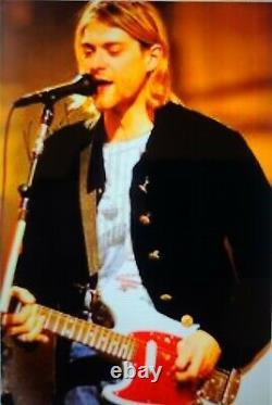 Kurt Cobain Affiche Signée À La Main Avec Coa
