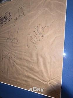 La Led Zeppelin Signée À La Main Autographié Par Tous Les 4 Framed Album Lp Record Withcoa