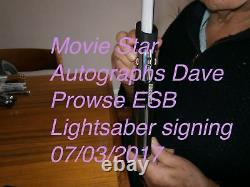 La Main De Maître Lightsaber Esb Darth Vader A Signé Et Utilisé Par Dave Prowse Coa