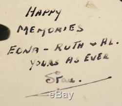 Laurel Et Hardy Hand Signé 10 X 8 Publicity Photograph Uacc Revendeur Enregistré