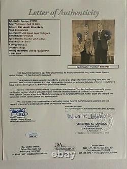 Laurel & Hardy Original Large Hand Signed Sepia Photograph Full Coa Jsa Approuvé