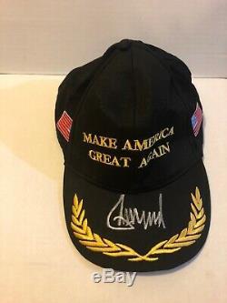 Le Chapeau De Maga Noir Autographié Et Signé Du Président Donald Trump Est Garanti Réel Et Rare