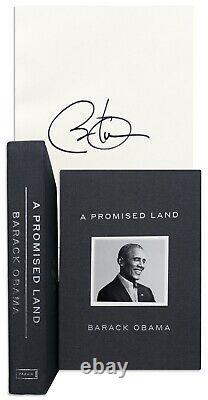 Le Président Barack Obama A Signé Un Livre Promis Land Sealed Deluxe Edition À La Main