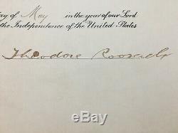 Le Président D'historic, Theodore Roosevelt, A Signé En 1908 Une Nomination Datée Du
