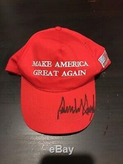 Le Président Donald Trump Autographié Signée À La Main Faire Amérique Grande Encore Une Fois Hat