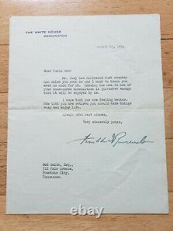 Le Président Franklin D. Roosevelt A Signé La Main 1944 Maison Blanche Lettre Officielle