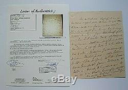Le Président Martin Van Buren Als, Président, Écrit À La Main, Non Signé Coa