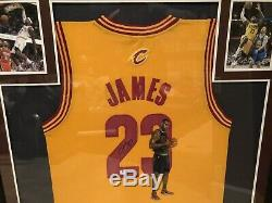 Lebron James Autographié & Main Jersey Painted Rare! Cleveland Cavaliers Certifier